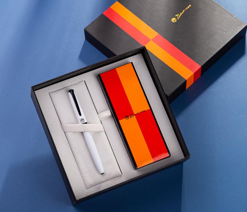 pimio毕加索旗舰店R16S金属宝珠签字笔  带笔芯礼盒装