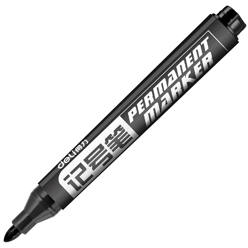 得力文具6881記號筆黑色粗頭大頭油性筆馬克筆標記快遞涂鴉筆