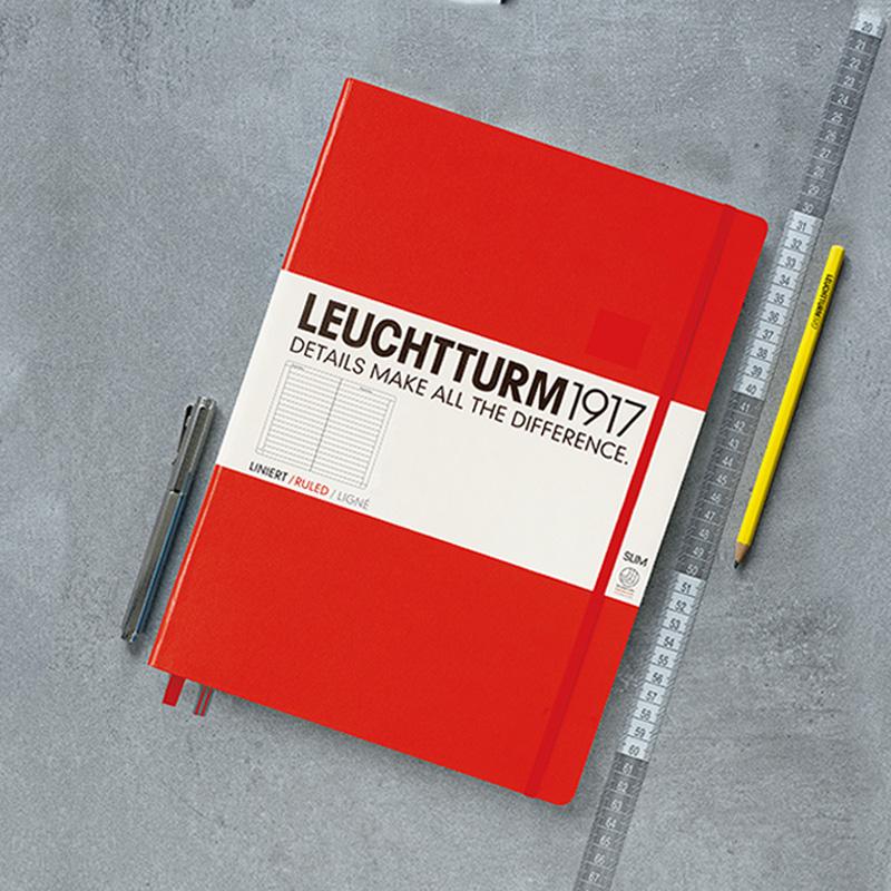 LEUCHTTURM1917德國燈塔A4+大開輕薄硬皮筆記本NoteBook商務橫格日記本