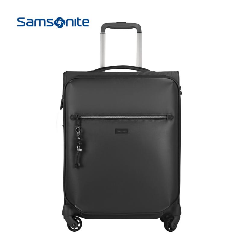 Samsonite/新秀麗拉桿箱輕盈軟箱登機箱行李箱旅行箱男女20寸 60N