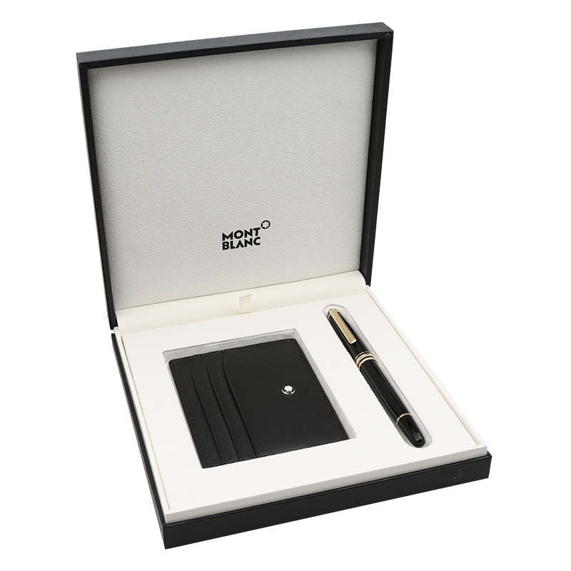 MONTBLANC萬寶龍163鍍金簽字筆 卡夾禮品套裝 123752