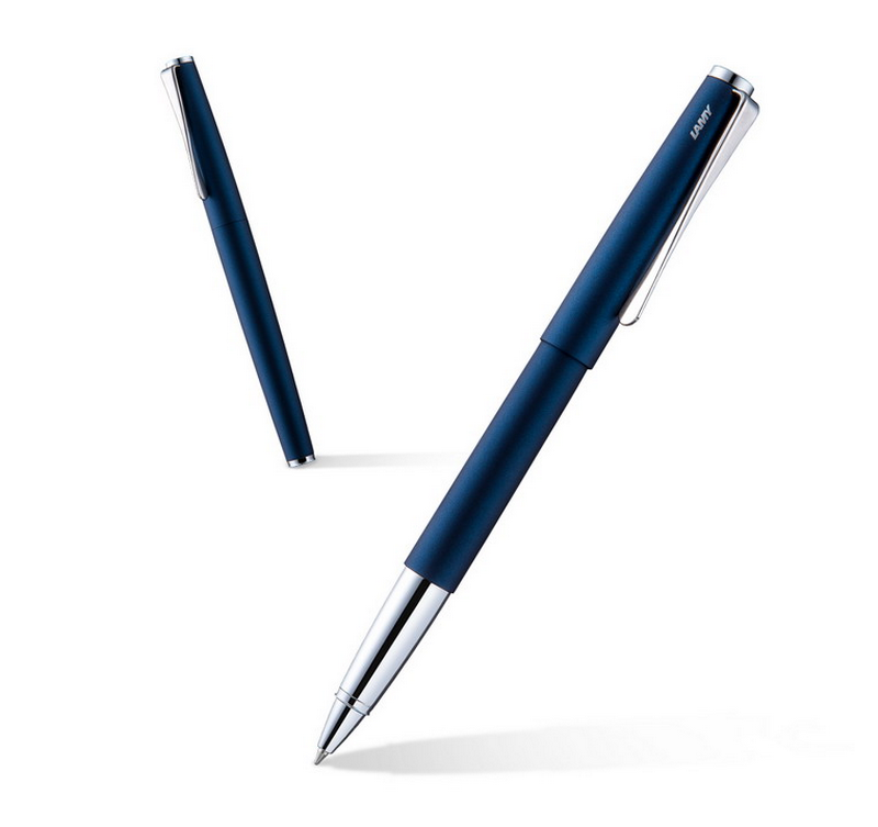 Lamy簽字筆 演藝磨砂藍金屬桿 德國凌美Studio系列中性筆寶珠筆