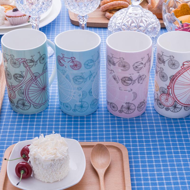 隆達骨瓷情侶杯子卡通水杯馬克杯個性創意陶瓷牛奶杯大容量咖啡杯