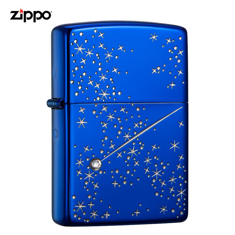 zippo打火機正版美國原裝夜空中的星zippo男士打火機ZBT-3-118a