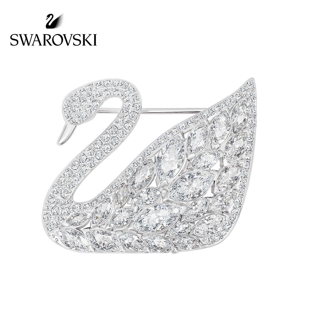 施華洛世奇 SWAN LAKE 時尚夢幻天鵝胸針 外套別針百搭配飾