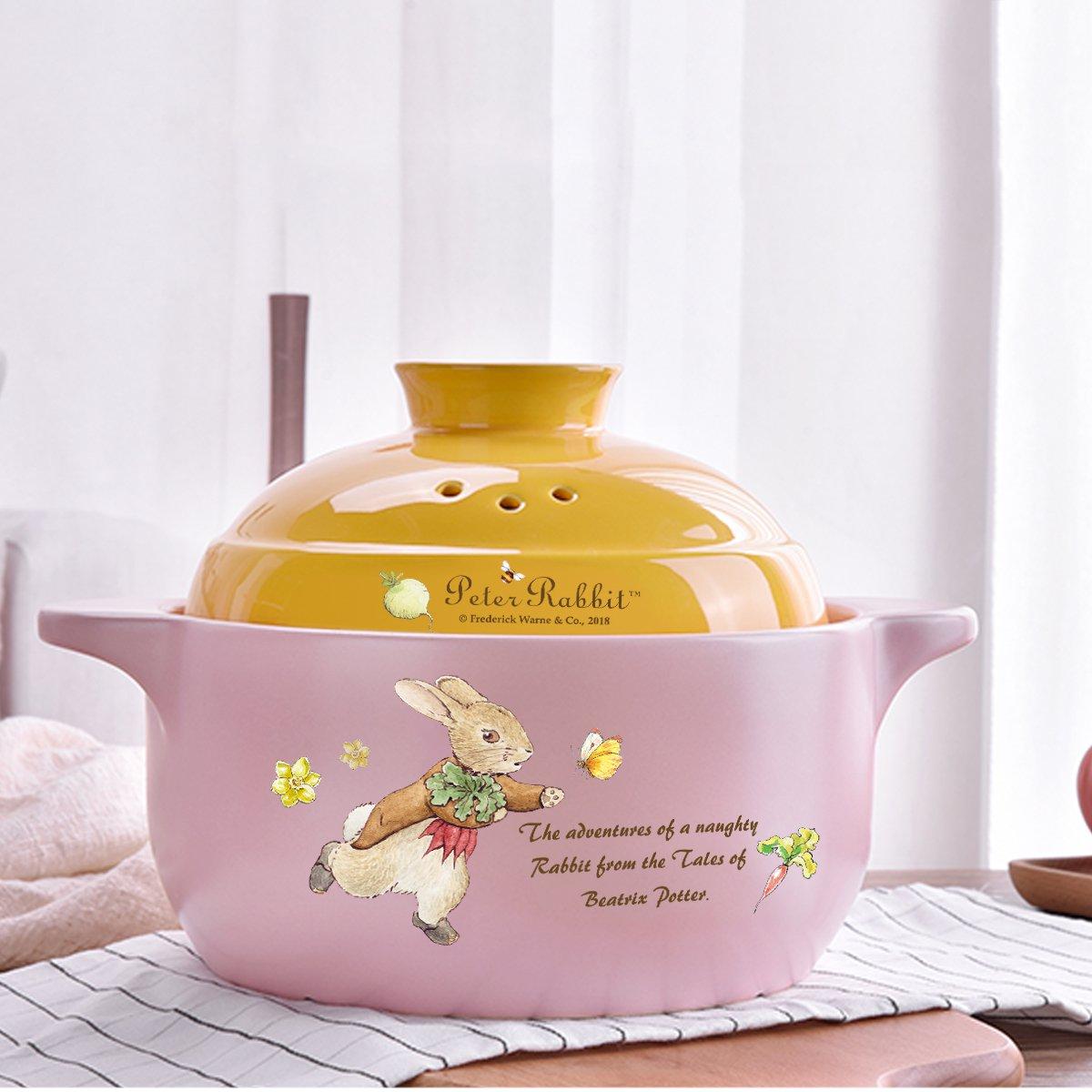 英國比得兔 鋰輝石田園時光養生砂鍋燉鍋耐高溫煲湯鍋煮粥鍋2.5