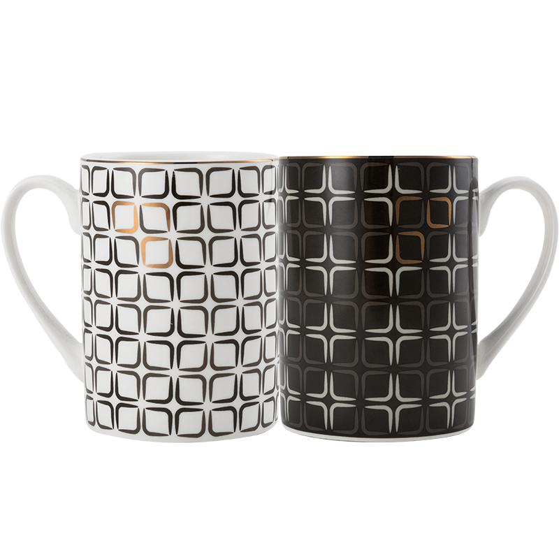 隆達骨瓷杯子創意陶瓷馬克杯情侶水杯辦公室咖啡杯摩登時代早餐杯