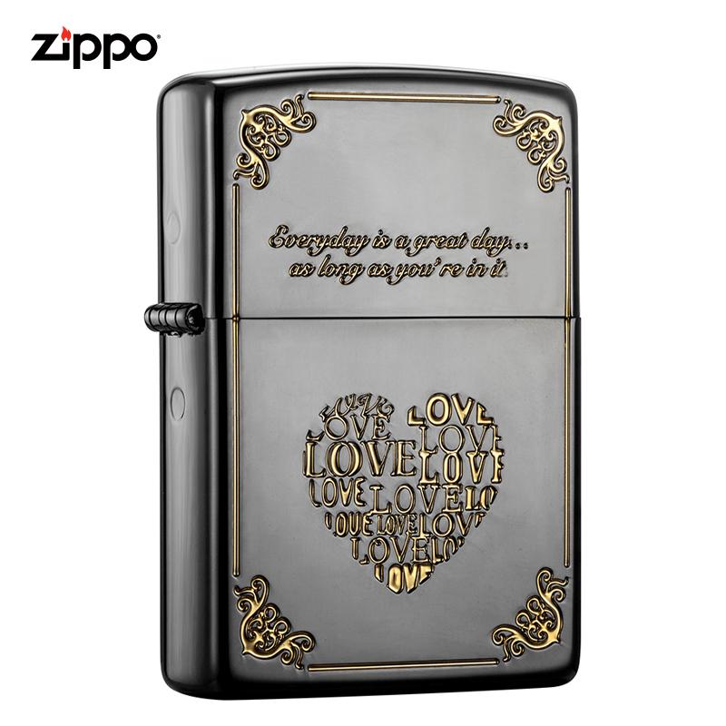 zippo美國正版防風打火機 愛情系列 有你真好|zbt-3-4a
