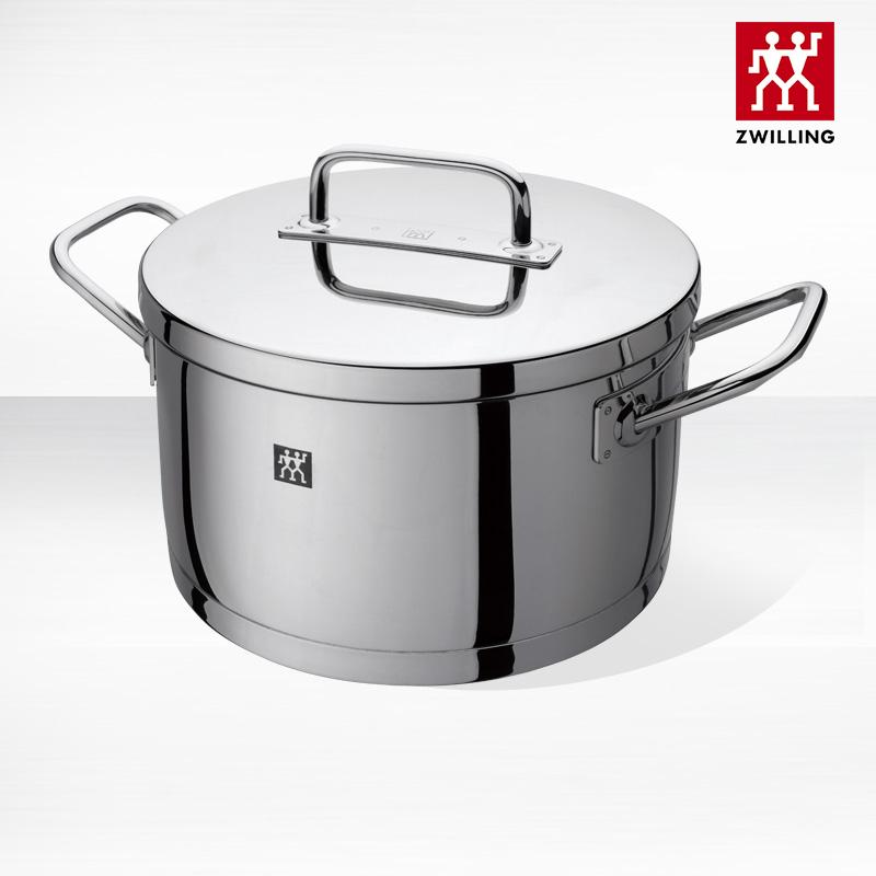 德國雙立人ZWILLING Pro深燒鍋20cm 不銹鋼鍋具湯鍋廚具